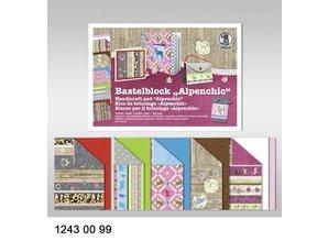 "DESIGNER BLÖCKE  / DESIGNER PAPER Crafting block ""Alpine Chic"", block = 16 sheets,"