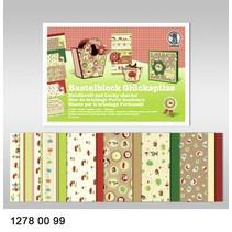 """Crafting block """"geluk"""", blok = 16 vellen, 24x34cm, 300g, aan beide zijden bedrukt"""