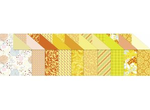 "DESIGNER BLÖCKE  / DESIGNER PAPER Design board ""Citrine"" block of 20 sheets,"