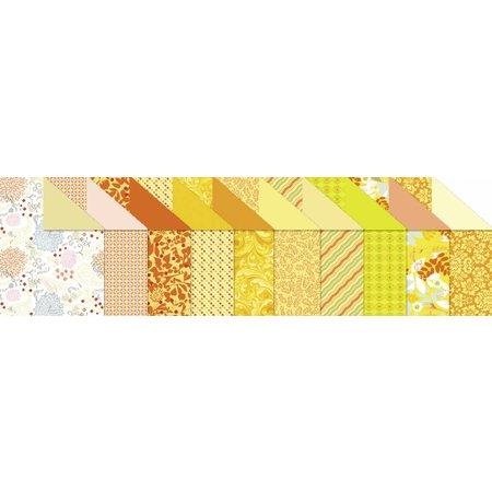 """DESIGNER BLÖCKE  / DESIGNER PAPER Designkarton """"Citrine"""", Block á 20 Blatt,"""