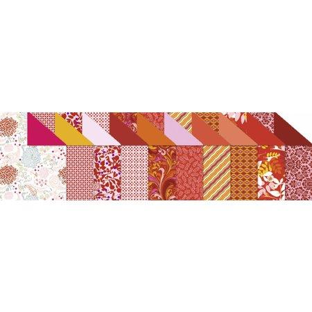 """DESIGNER BLÖCKE  / DESIGNER PAPER Diseño de cartón """"Ruby"""", el bloque de 20 hojas,"""