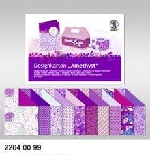"""DESIGNER BLÖCKE  / DESIGNER PAPER Design board """"Amethyst"""", block of 20 sheets, 200g, printed on both sides"""