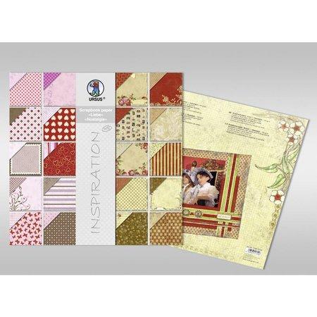 "Designer Papier Scrapbooking: 30,5 x 30,5 cm Papier Scrapbook paper, ""Edition 1"", 120g/qm, 1 Block = 44 Blatt sortiert in 44 Dessins"