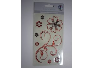 "Embellishments / Verzierungen Gemstone Stickers, ""ornaments"", red"