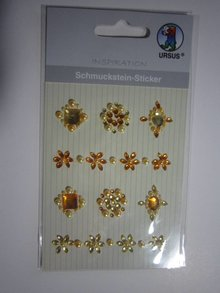 "Embellishments / Verzierungen Gem sticker, ""medallions"", yellow"
