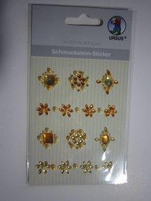 """Embellishments / Verzierungen Schmuckstein-Sticker,"""" Medaillons"""", gelb"""