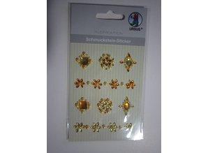 """Embellishments / Verzierungen Gemstone Stickers, """"medallions"""", yellow"""