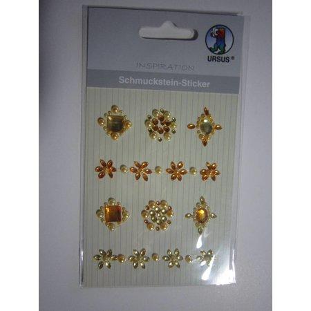 """Embellishments / Verzierungen Gemstone Pegatinas """"medallones"""", amarillo"""