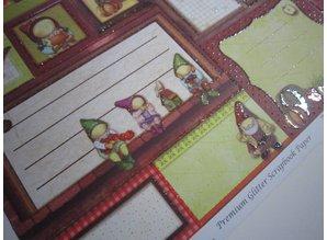 """Designer Papier Scrapbooking: 30,5 x 30,5 cm Papier Premium Glitter Scraphook paper, """"Imp"""", 190g / sqm,"""