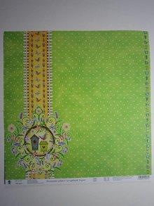 "Designer Papier Scrapbooking: 30,5 x 30,5 cm Papier Premium Glitter Scraphook papir, ""Garden"", 190g / kvm,"