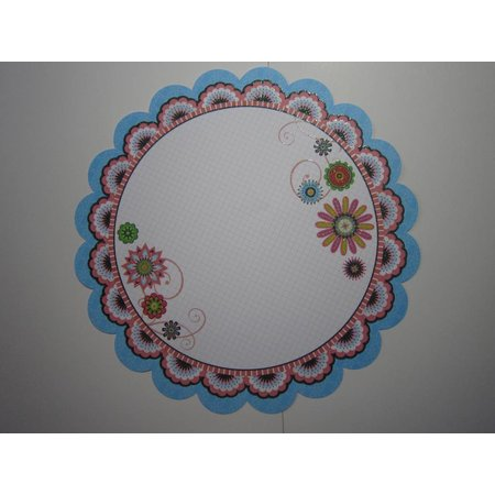 "Designer Papier Scrapbooking: 30,5 x 30,5 cm Papier Premium Glitter Scraphook paper, ""Blossom"", 190g/qm,"