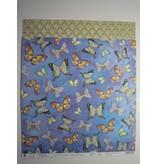 "Designer Papier Scrapbooking: 30,5 x 30,5 cm Papier Papel superior Glitter Scraphook, ""mariposas"", 190g"