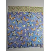 "Premium Glitter Scraphook papier, ""vlinders"", 190g"