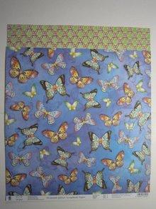 "Designer Papier Scrapbooking: 30,5 x 30,5 cm Papier Premium Glitter carta Scraphook, ""farfalle"", 190g"