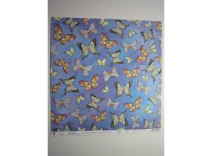 "Designer Papier Scrapbooking: 30,5 x 30,5 cm Papier Premium Glitter Scraphook paper, ""butterflies"", 190g"