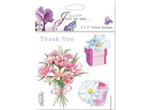Stempel / Stamp: Transparent 18x18cm, Clear stamps - Grazie / Grazie (5 soggetti)