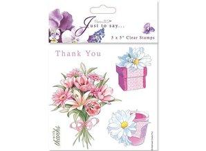 Stempel / Stamp: Transparent 18x18cm, Transparent Stempel - Thanks/Thank You (5 Motive)