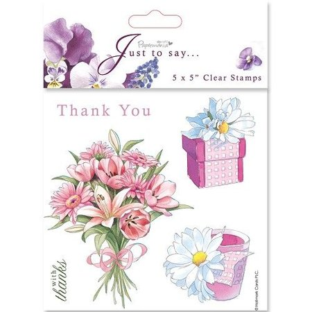 Stempel / Stamp: Transparent 18x18cm, Clear stamps - Thanks / Thank You (5 subjects)