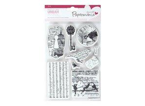 Docrafts / Papermania / Urban URBAN frimærke - 8 Emner (BIRD PRINT)
