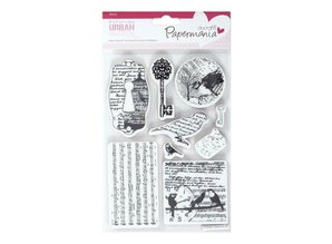Docrafts / Papermania / Urban URBAN stamp - 8 Topics (BIRD PRINT)