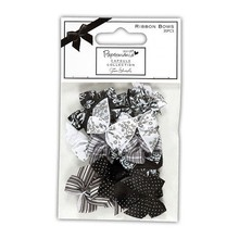 Docrafts / Papermania / Urban Satin mini loops (20pcs), Bexley Black