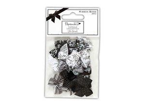 Docrafts / Papermania / Urban Satin mini loops (20pcs), Bexley Black