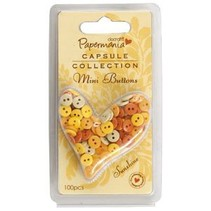 Mini buttons - capsule (100pc) sunshine