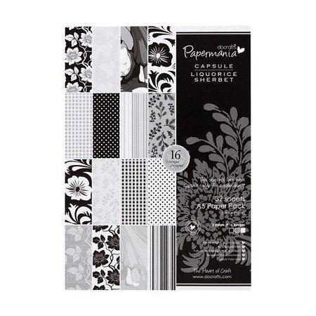 Docrafts / Papermania / Urban A5 Capsule, Designerblock, (32Blatt) Sherbert & Liquorice