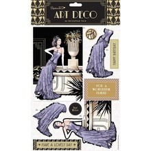 DECOUPAGE AND ACCESSOIRES A4 Decoupage Set - corrispondente art deco di bollo e carta