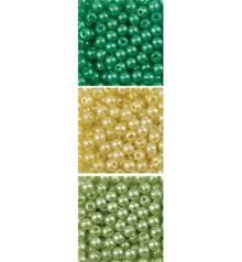 Schmuck Gestalten / Jewellery art Trio perle acriliche, 3 mm, 3 x 4gr., Rond assortimento.