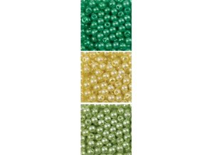 Schmuck Gestalten / Jewellery art Perlen Trio Acryl, 3mm, 3 x 4gr., rond Assortiment.