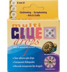 BASTELZUBEHÖR / CRAFT ACCESSORIES Transparent glue dots, 8mm.