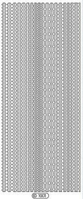 Sticker Ziersticker, 10 x 23cm, 11 gold rims