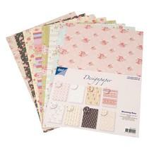 Diseñador de Block de Joy manualidades, 16 hojas, A4, Blooming Rose