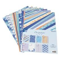 Designerblock von Joy Crafts, 16 Blatt, A4, Ocean,