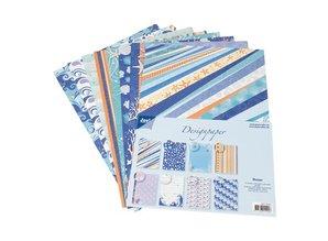 DESIGNER BLÖCKE  / DESIGNER PAPER Designer block of Joy Crafts, 16 sheets, A4, Ocean,