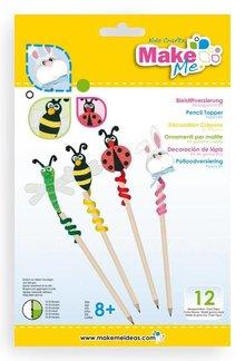 """Kinder Bastelsets / Kids Craft Kits Craft Kit: """"Pencil Ornament"""" of foam rubber kit"""