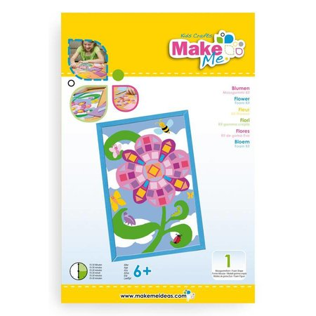 """Kinder Bastelsets / Kids Craft Kits Craft Kit: """"flores"""" hechos de kit de goma espuma"""