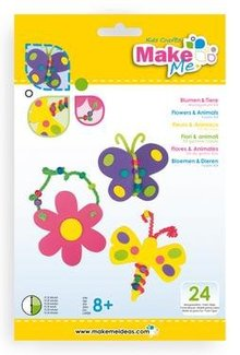 "Kinder Bastelsets / Kids Craft Kits Craft Kit: ""Flowers and animals"" of foam rubber kit"