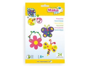"Kinder Bastelsets / Kids Craft Kits Craft Kit: ""Flowers and animals"" of foam rubber kit"
