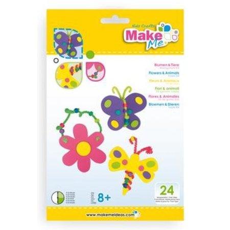 "Kinder Bastelsets / Kids Craft Kits Craft Kit: ""Las flores y los animales"" del kit de goma espuma"
