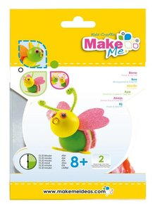 "Kinder Bastelsets / Kids Craft Kits Craft Kit: ""Bee"" of foam rubber & Clay Kit"
