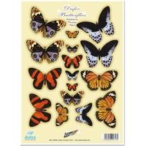"""Die cut sheet metal engraving, """"Dufex butterflies No.3"""""""