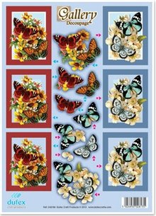 """BILDER / PICTURES: Studio Light, Staf Wesenbeek, Willem Haenraets 3D-Stanzbogen Metallgravur, """"Gallery Schmetterlinge rot-h´blau"""""""