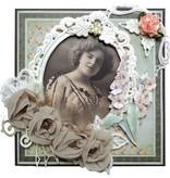 Marianne Design Prægning og stansning skabelon, elegante, ovale dekorativ ramme