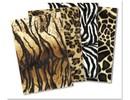 DESIGNER BLÖCKE  / DESIGNER PAPER Plüschkarton-Sortiment: Tiger,Panther, Zebra, Giraffe