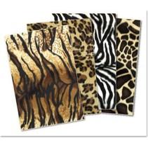 Plüschkarton-Sortiment: Tiger,Panther, Zebra, Giraffe
