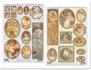 """BILDER / PICTURES: Studio Light, Staf Wesenbeek, Willem Haenraets Die cut ark: """"Art Nouveau"""", forskellige designs - eneste tilgængelige!"""