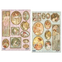 """Die hojas sueltas: """"Art Nouveau"""", diferentes diseños - único disponible!"""
