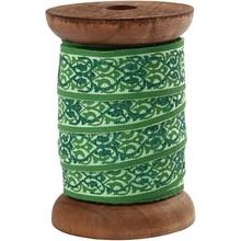 DEKOBAND / RIBBONS / RUBANS ... Esclusivo, nastri tessuti in legno spool verde